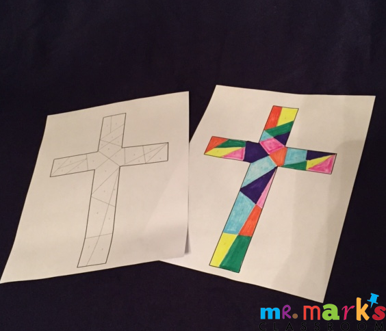 Stained Glass Cross Game